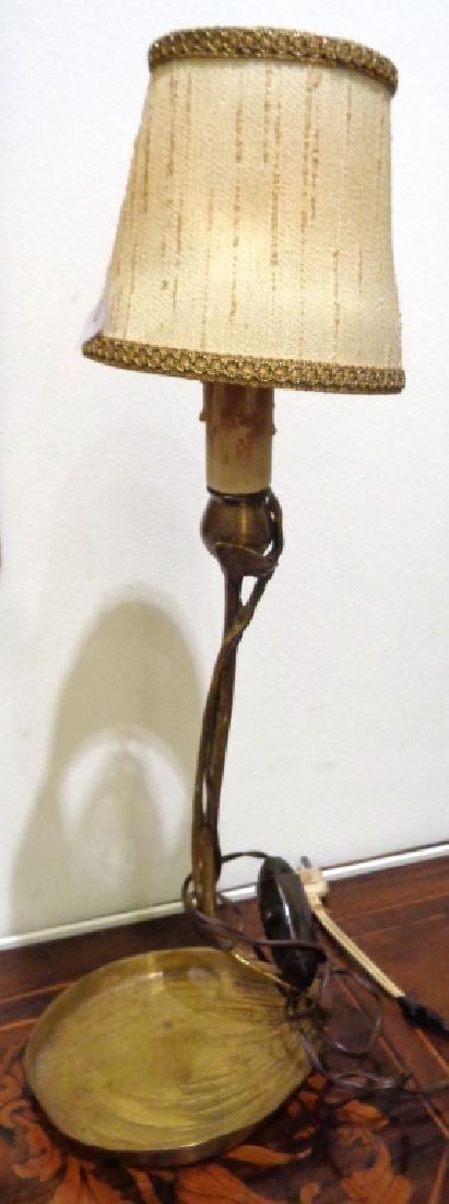 Lampada da tavolo Liberty in ottone h.cm.25