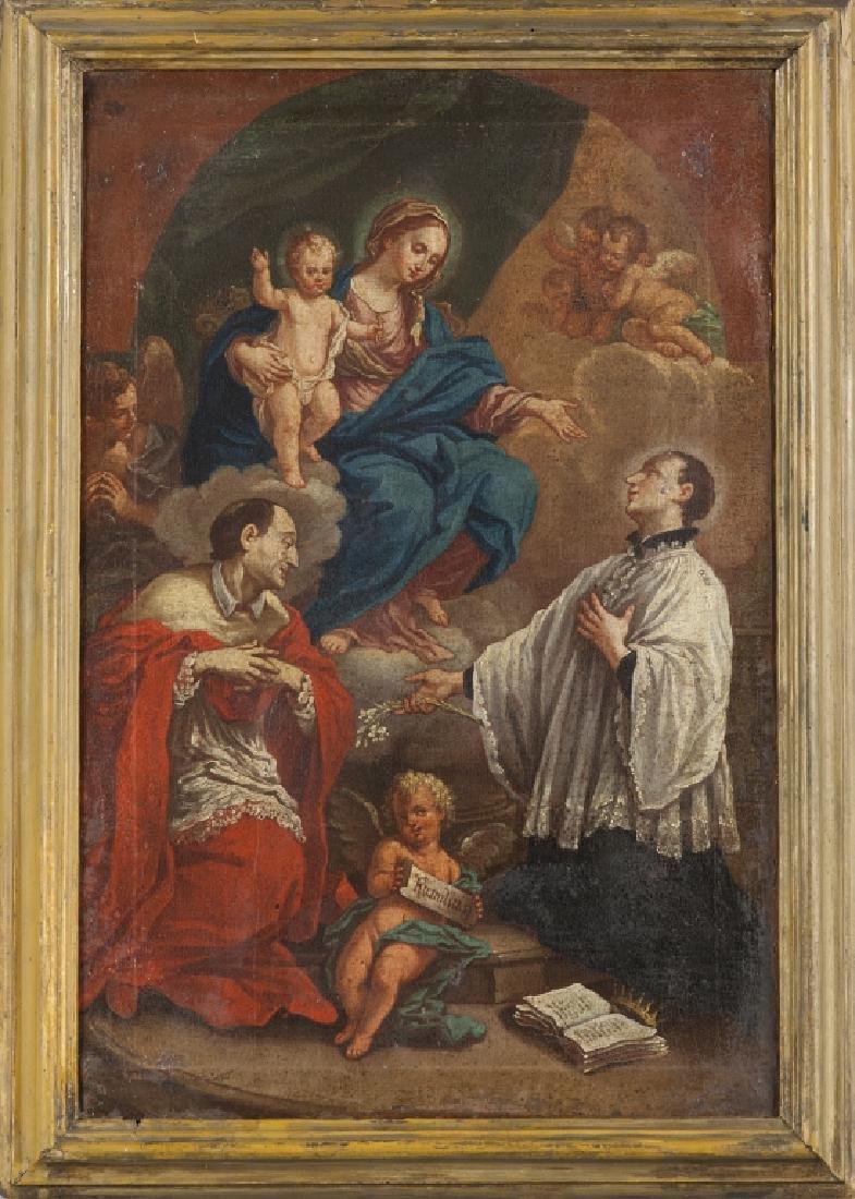"""Scuola Italiana sec.XVIII """"Madonna con Bambino in"""