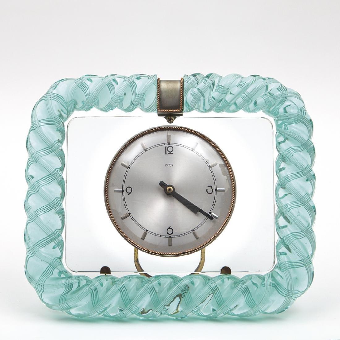 VENINI  Un orologio da tavolo, anni '30.