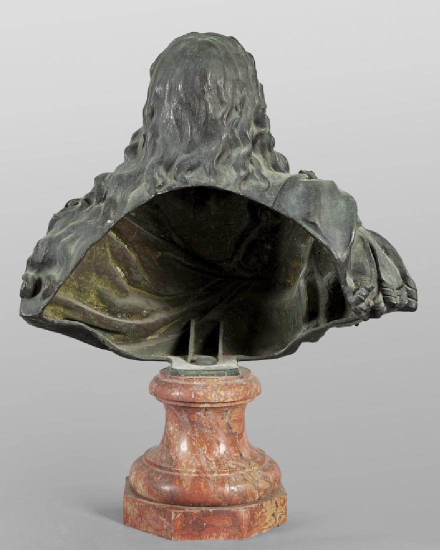 Antico busto in bronzo a patina scura - 3