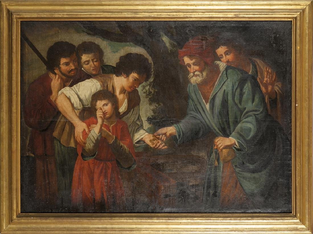 """Scuola italiana sec.XVIII """"Giuseppe venduto dai"""
