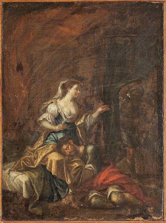 "Scuola italiana sec.XVIII ""Sansone e Dalila"""