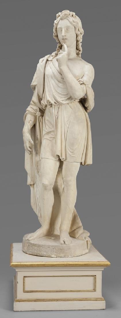 Apollo, importante e grande scultura in marmo