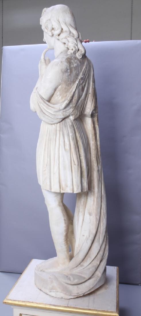 Apollo, importante e grande scultura in marmo - 3