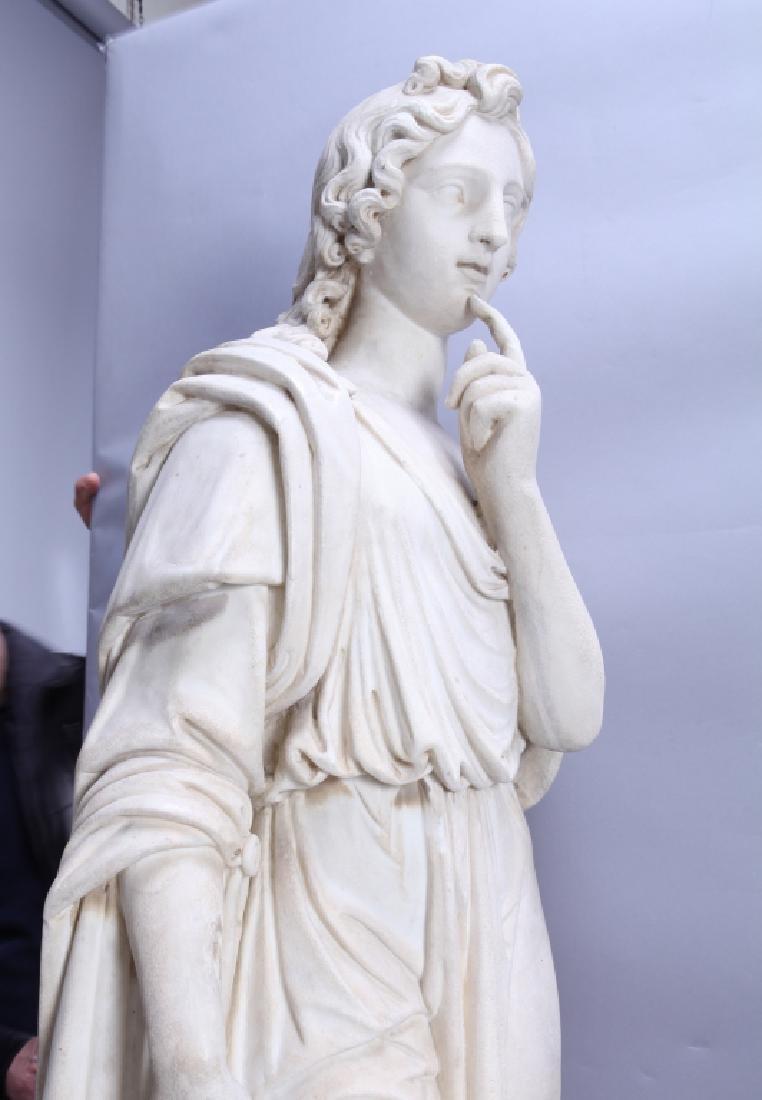 Apollo, importante e grande scultura in marmo - 5