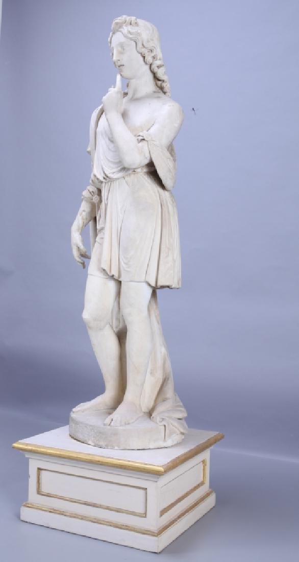 Apollo, importante e grande scultura in marmo - 6