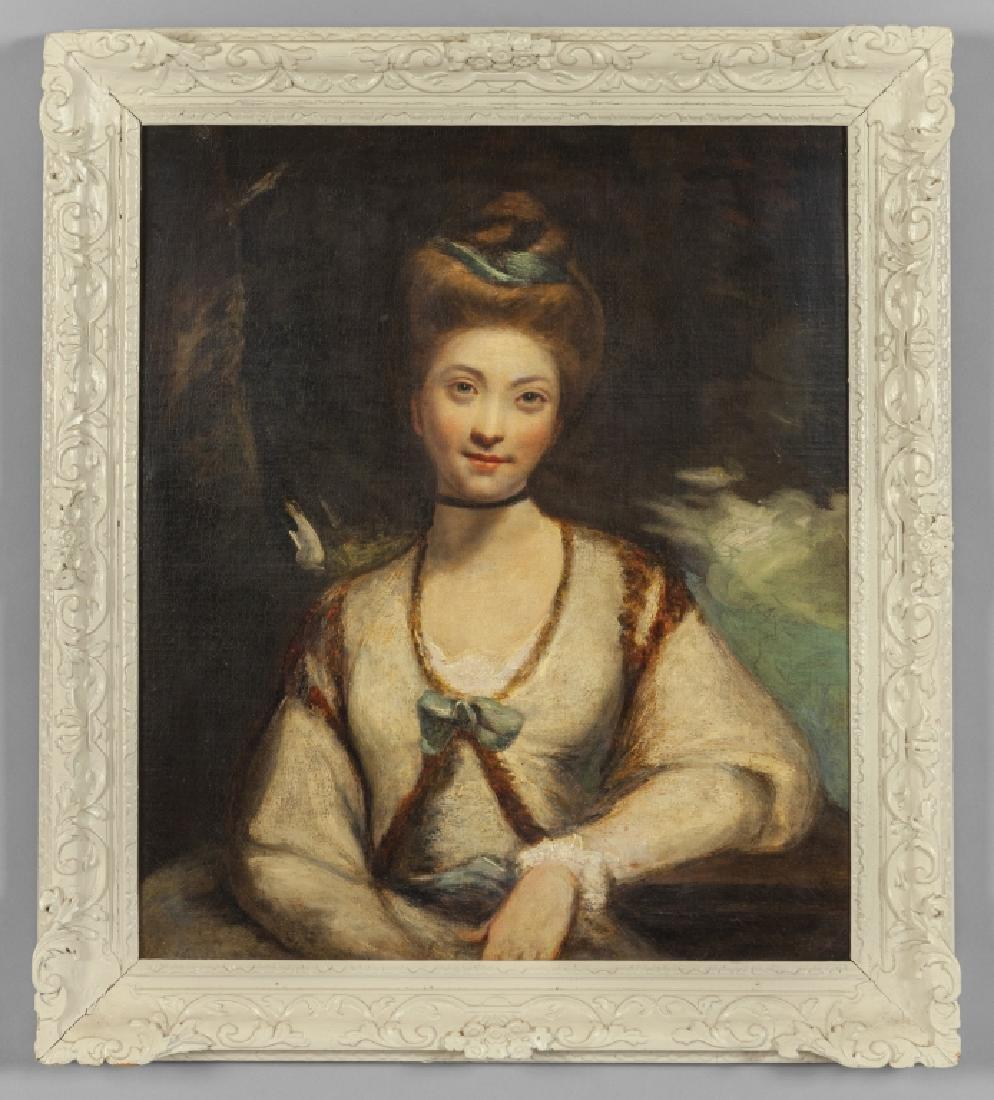 """""""Ritratto di giovane donna"""" olio inizi sec.XIX,"""