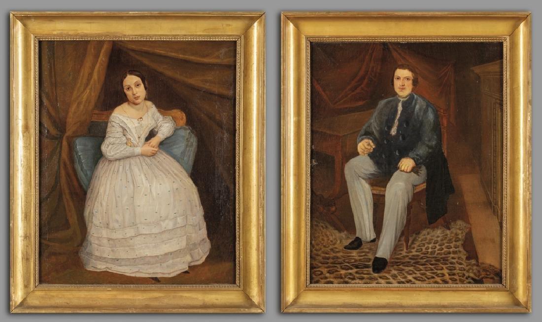 """""""Ritratto di giovane uomo e giovane donna"""" coppia"""