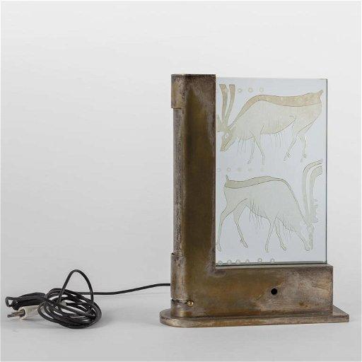 FONTANA ARTE Una lampada da tavolo, 1935.