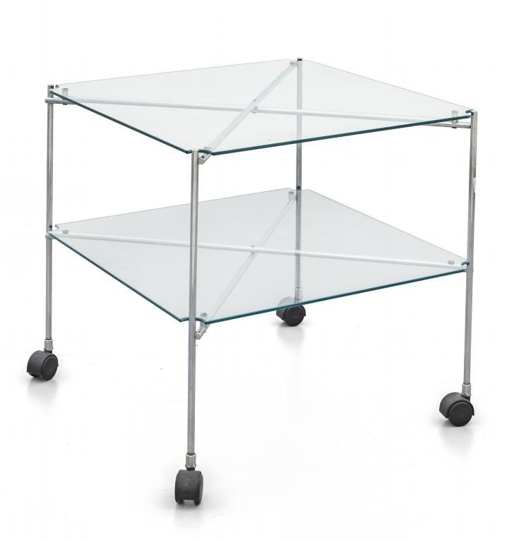 BRUNO MUNARI  Un tavolino su rotelle 'Biplano'