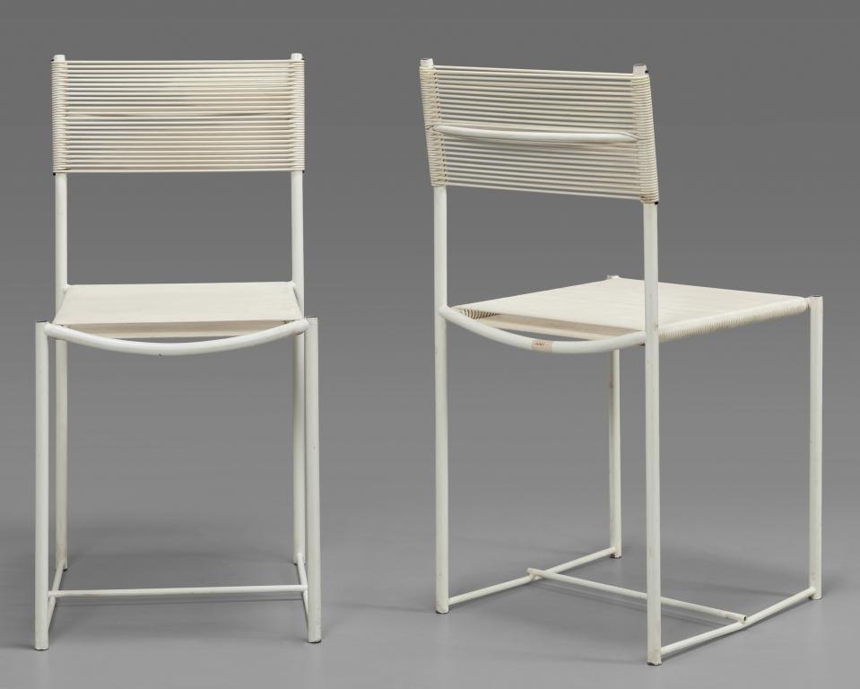 "GIANDOMENICO BELOTTI Due ""Spaghetti chairs"""