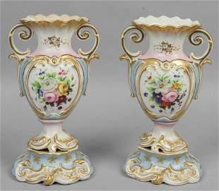 Due coppie di vasi Luigi Filippo in ceramica