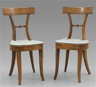 Coppia di sedie direttorio schienale con stecca