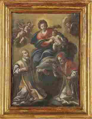 Madonna con Bambino e Santi olio