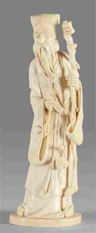 Saggio scultura in avorio Giappone fine
