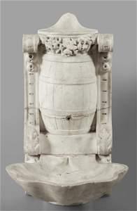 Fontana da interno Luigi XVI in marmo bianco