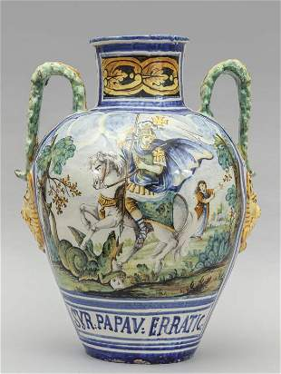 Grande vaso decorato con San Giorgio SYR PAPAV