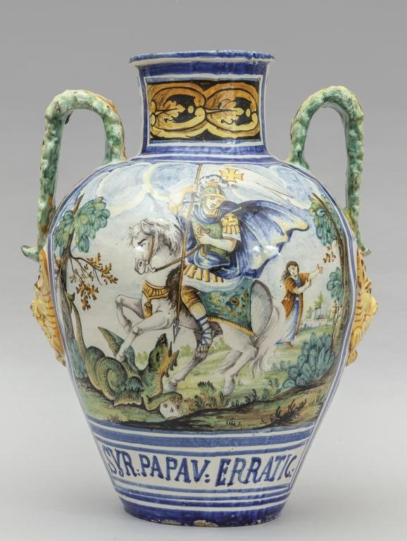 Grande vaso decorato con San Giorgio, SYR PAPAV