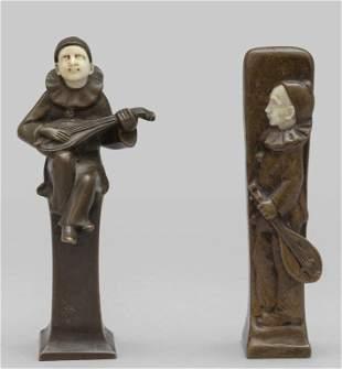 Due sigilli in bronzo e avorio raffiguranti