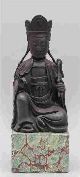 Budda scultura in legno secXVII hcm24