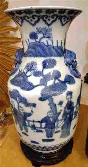 Vaso in porcellana decorato a paesaggi Cina