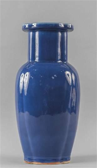 Vaso in porcellana blu Cina secXIX hcm39