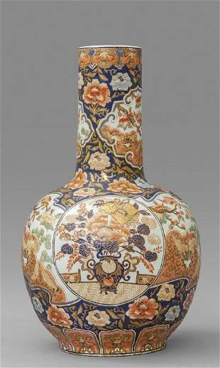Grande vaso in porcellana Imari decorato in