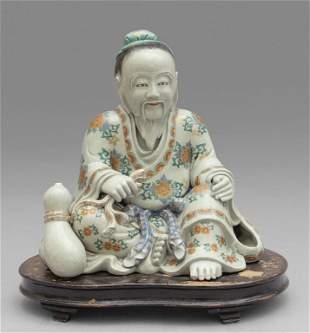 Saggio in porcellana di Cina policroma, sec.
