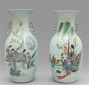 Coppia di vasi in porcellana di Cina bianca