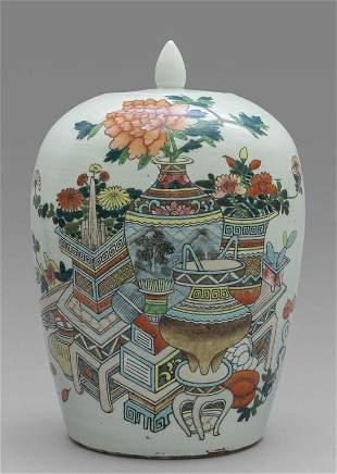 Potiche in porcellana policroma Cina