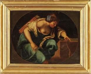 Scuola genovese secXVIII Diana olio cm
