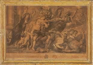 Marte stampa da Pietro Paolo Rubens cornice