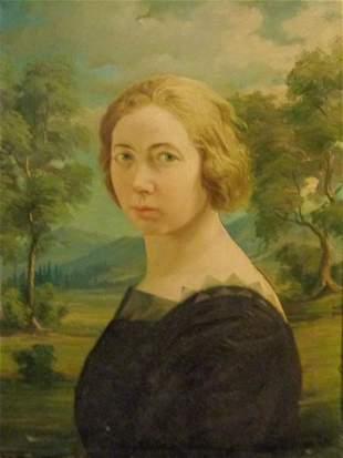 Ritratto di giovane donna olio fto Semino e