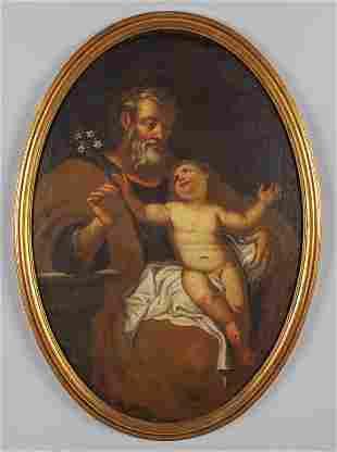 San Giuseppe con il Bambino olio di forma
