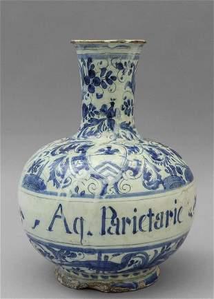 Bottiglia a collo alto in ceramica decorazione