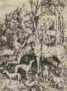 "DURER ALBRECHT (1471-1528)  ""Sant'Eustachio"""
