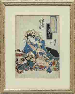 KEisen 17901848 Giovane geisha incisione