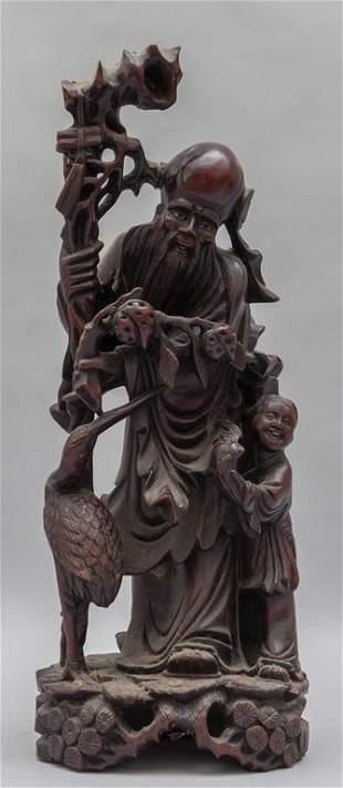 Figura di saggio scultura in legno Cina