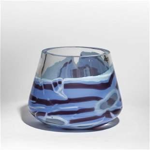 SEGUSO VETRI DARTE Un vaso in vetro pesante