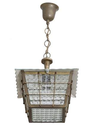 UN LAMPIONE anni 40 Ottone alluminio