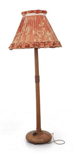 Una lampada da terra anni 40 Legno di