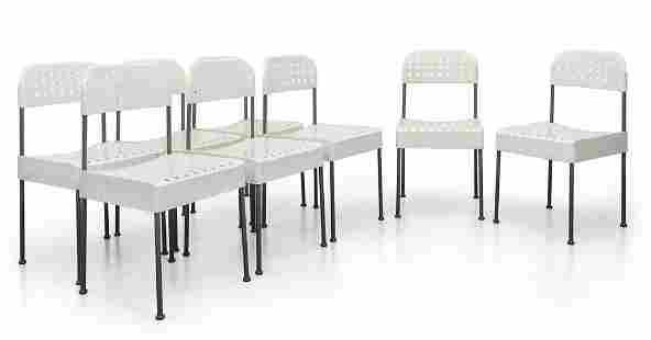 ENZO MARI Otto sedie 'Box' per ANONIMA