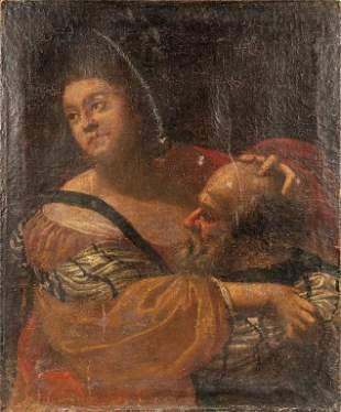 Scuola italiana secXVII La carit romana olio