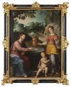 """Scuola toscana metà sec. XVII """"Gesù e la"""