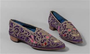 Paio di scarpe ricamate, Venezia sec.XIX