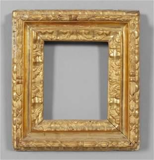 Cornice in legno intagliato e dorato sec.XIX