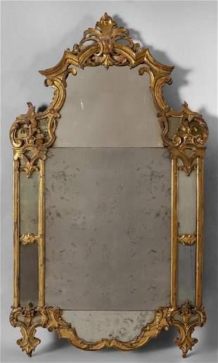 Specchiera Luigi XIV in legno finemente