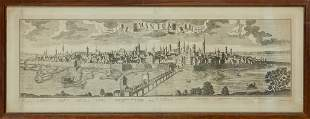 """Mantova"" antica stampa sec.XVIII cm. 110x39"