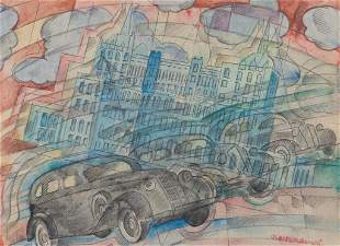 BONETTI UBERTO (1909-1993) Milano - Auto in