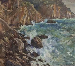 MICHELE CASCELLA (1892-1989) Marina, Capri